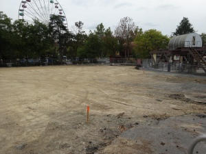The pond for the Bumper Boats is long gone and leveled.